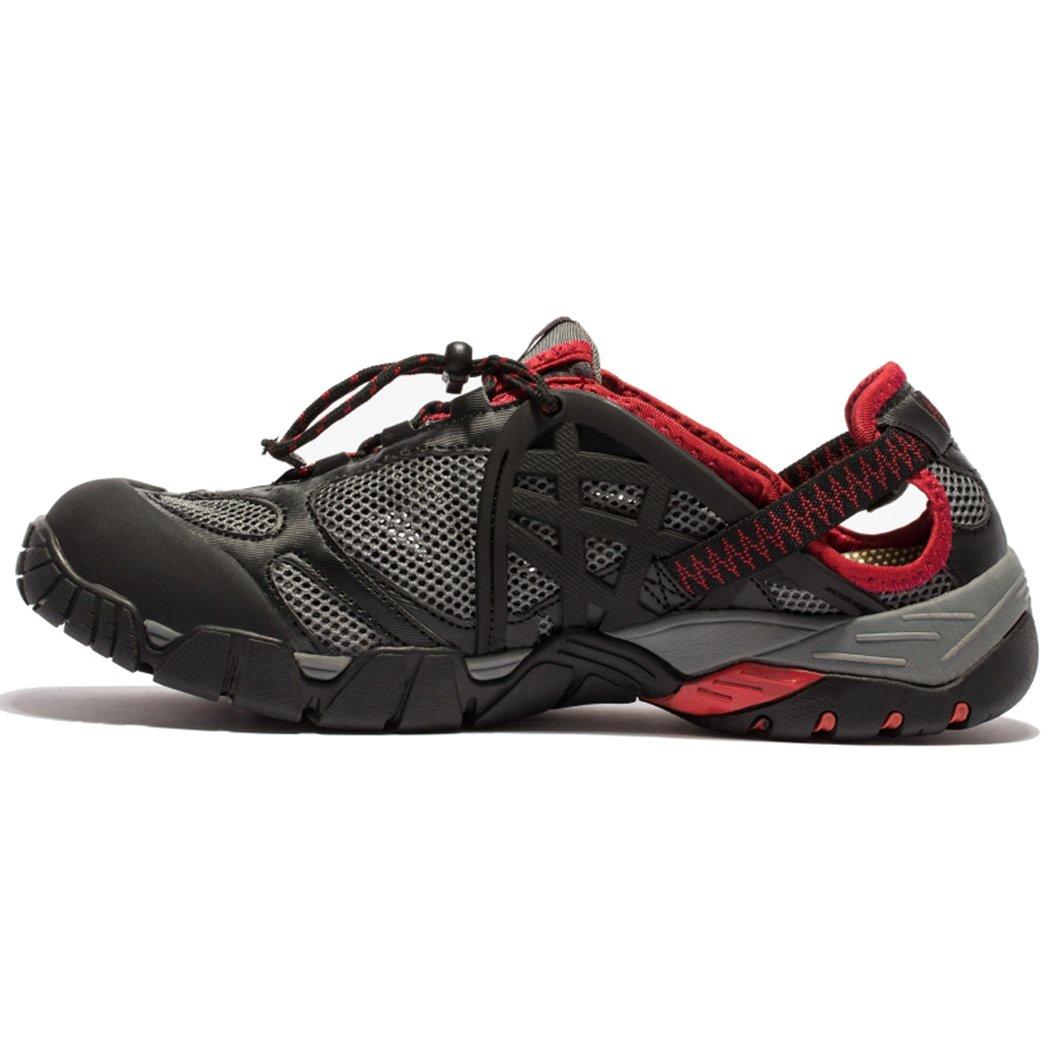 KENSBUY Women& Men's Mesh Water Shoes,Outdoor,Beach Aqua,Fishing Leisure Sneakers EU45 Red
