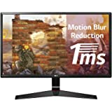 LG 24 inch (60.96 cm) Gaming LED Monitor - Full HD, IPS Panel with VGA, HDMI, Display, Heaphone Ports - 24MP59G (Black)