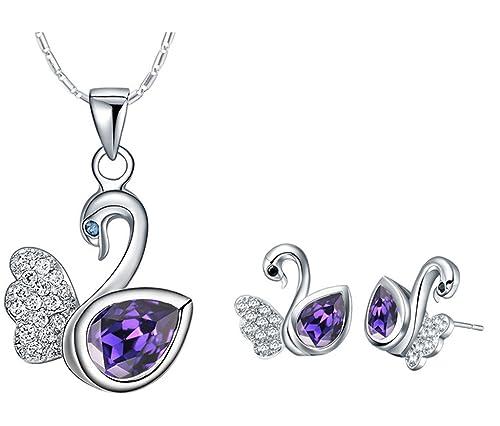 911b8aadcff9 Layla Jewellery Mujer Plata de ley (925/1000) cobre amatista ...