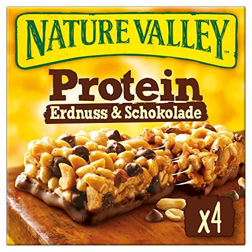 Nature Valley Protein Erdnuss & Schokolade, 4 Proteinriegel, 160 g