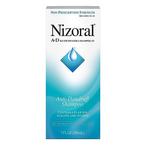 Nizoral A D Anti Dandruff Shampoo 7 Fl. Oz Itchy Scalp Dandruff Treatment W/ Ketoconazole 1% by Nizoral