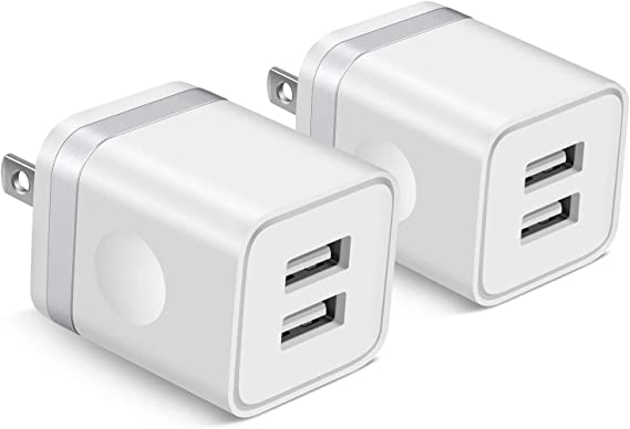 2 x Lot Original//OEM AC 12W 2.1A Home//Wall Charger Plug For Apple iPhones ipads