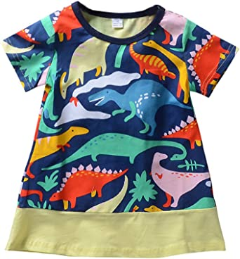 LOSORN ZPY Baby Toddler Girl T Shirt Dress Set Cotton Tee Summer Outfit