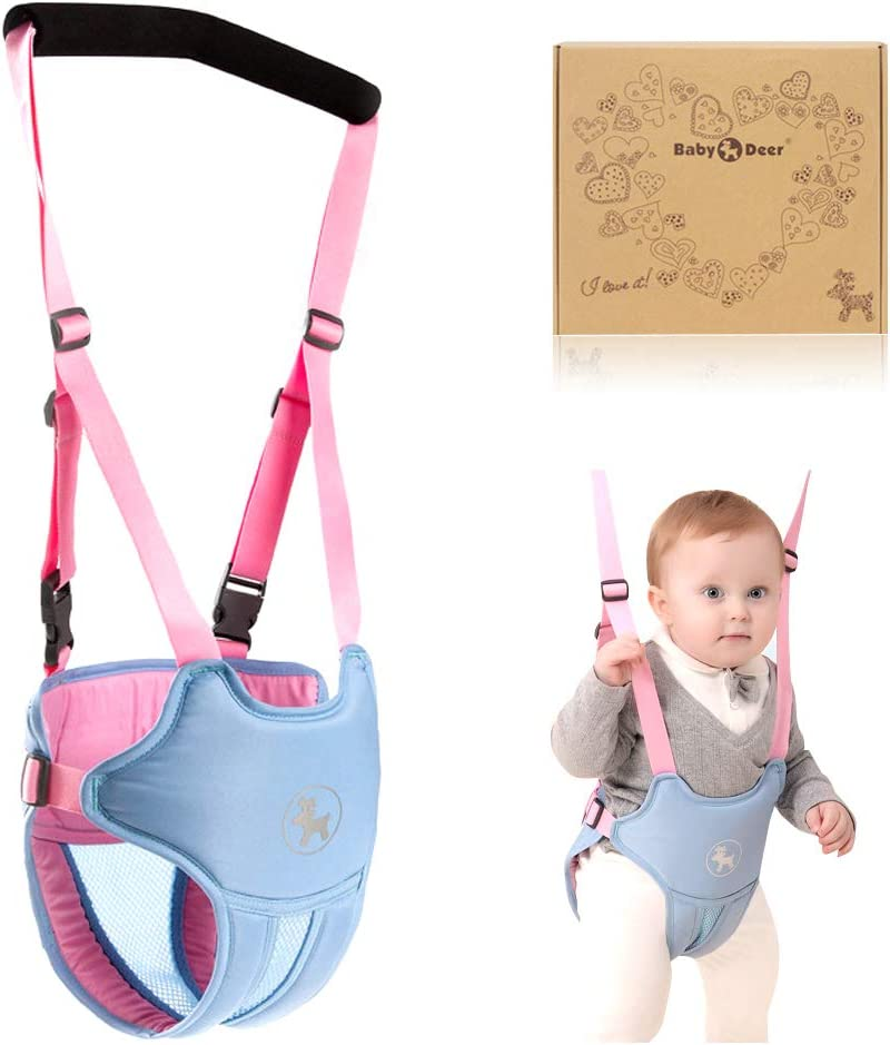Arnés de Seguridad para Caminar - Ajustable Arnés de Bebe a Pie de Caminado Aprendizaje Chaleco Arneses para Niños Andador Arnés Tirantes Con Correa y Hebilla de Bebé Protección 10-24 meses
