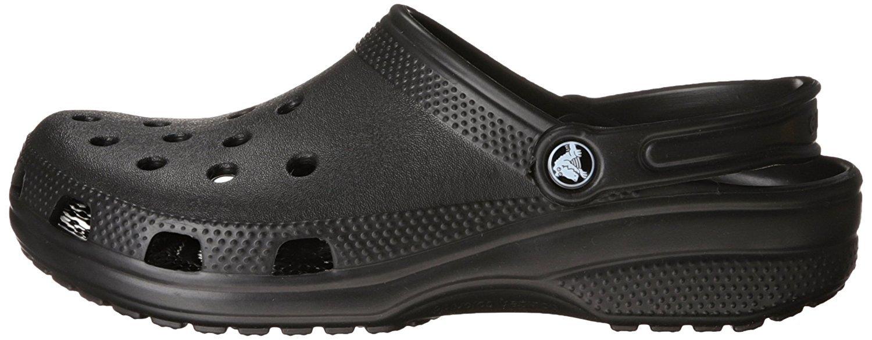 Crocs Unisex Classic Clog, Black, 8 US Men / 10 US Women