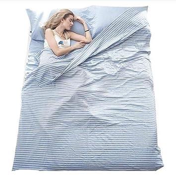 LKKSP Saco de Dormir de Viaje, sábanas sanitarias Interiores de Hotel, algodón Adulto.