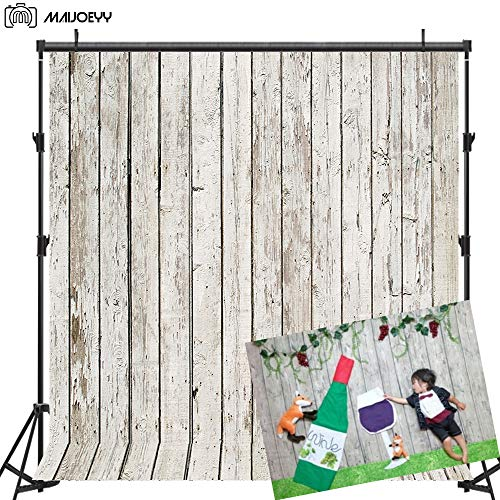 Maijoeyy 5x7ft Photography Backdrop Wood Photo Backdrop Decorations Newborn Baby Photography Props Summer Birthday Party Photo Studio Props No Wrinkle Background]()