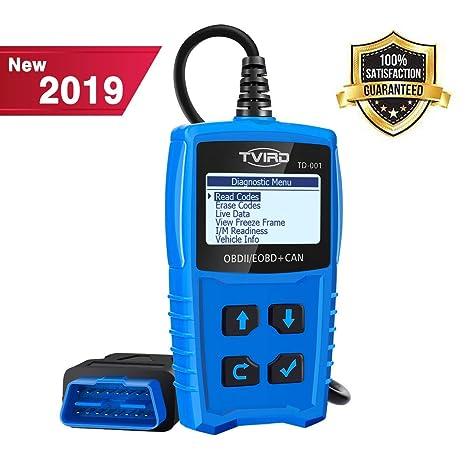Tvird OBD2 Auto Diagnóstico,OBD II Escáner Motor Detector de Fallas Eliminar Códigos Error,