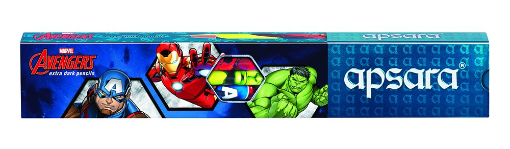 Apsara Marvel Avengers Extra Dark Pencils - Pack of 10