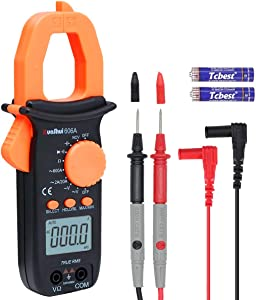 RuoShui Clamp Meter Digital Multimeter, True RMS 2000 Counts NCV Auto-Ranging, AC/DC Current Voltage, Resistance, Capacitance, LCD Backlight Display Diode Tester