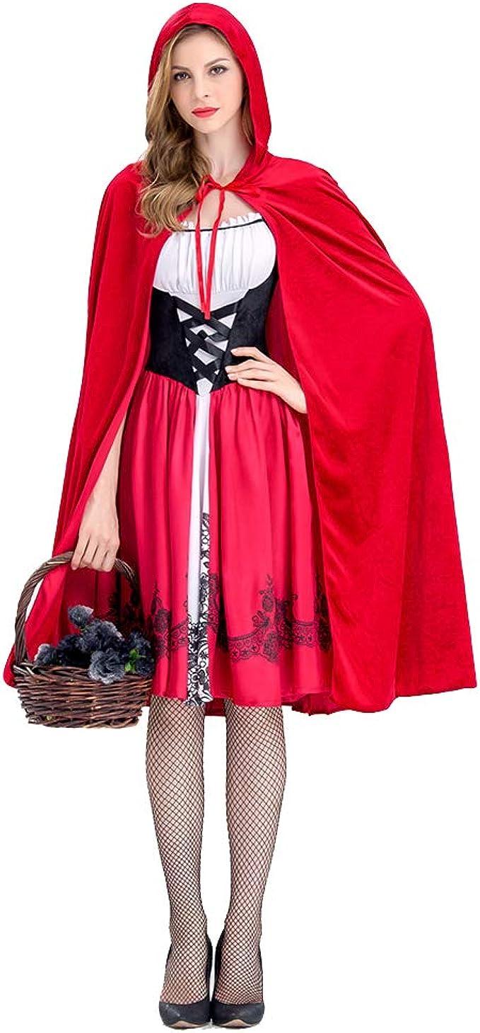 Leoie Disfraz de Caperucita Roja para Mujer, Disfraz de ...