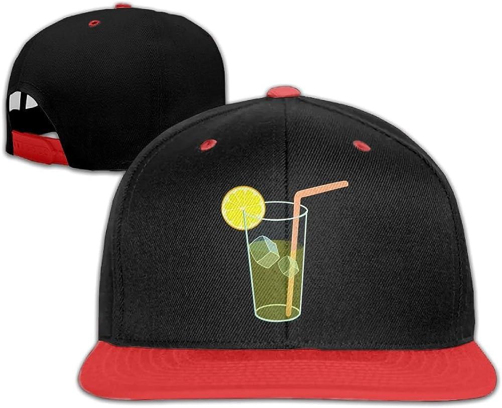 Kids Hip Hop Baseball Cap and Hats Boy Girl Lemonade with Ice