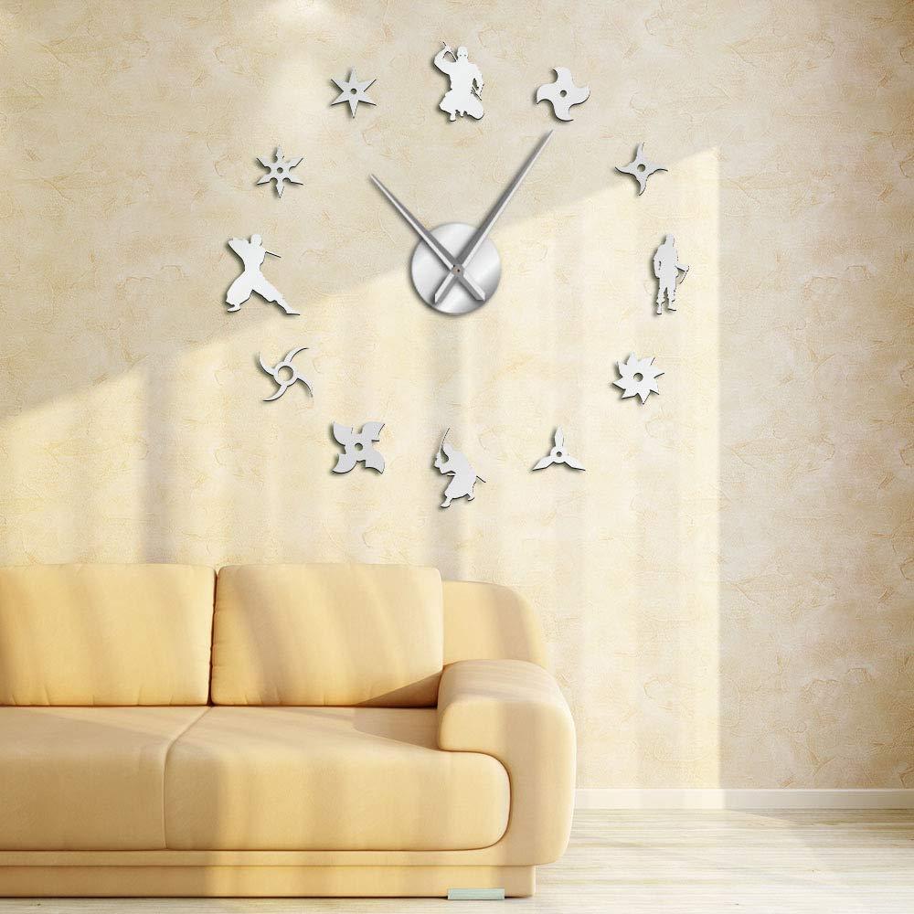 XINTANG Reloj de Pared Shinobi Japon Ninja DIY Reloj de ...
