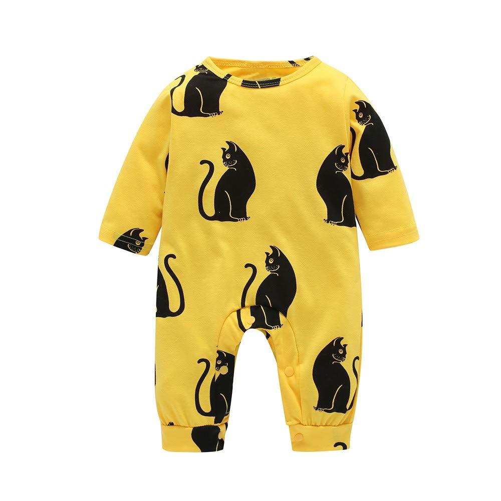 Elecenty Pagliaccetti per bambino Tute Caldo Abbigliamento Abiti casual Cat Cartoon Romper Vestiti Set