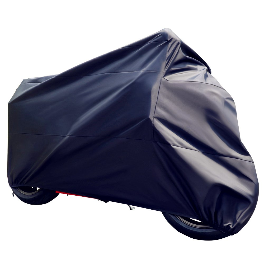 Tokept Motercycle Cover Waterproof Sun UV Dustproof Black XL 96'' for All Scooter and Mopeds-Yamaha Honda Suzuki Kavasaki Ducati BMW