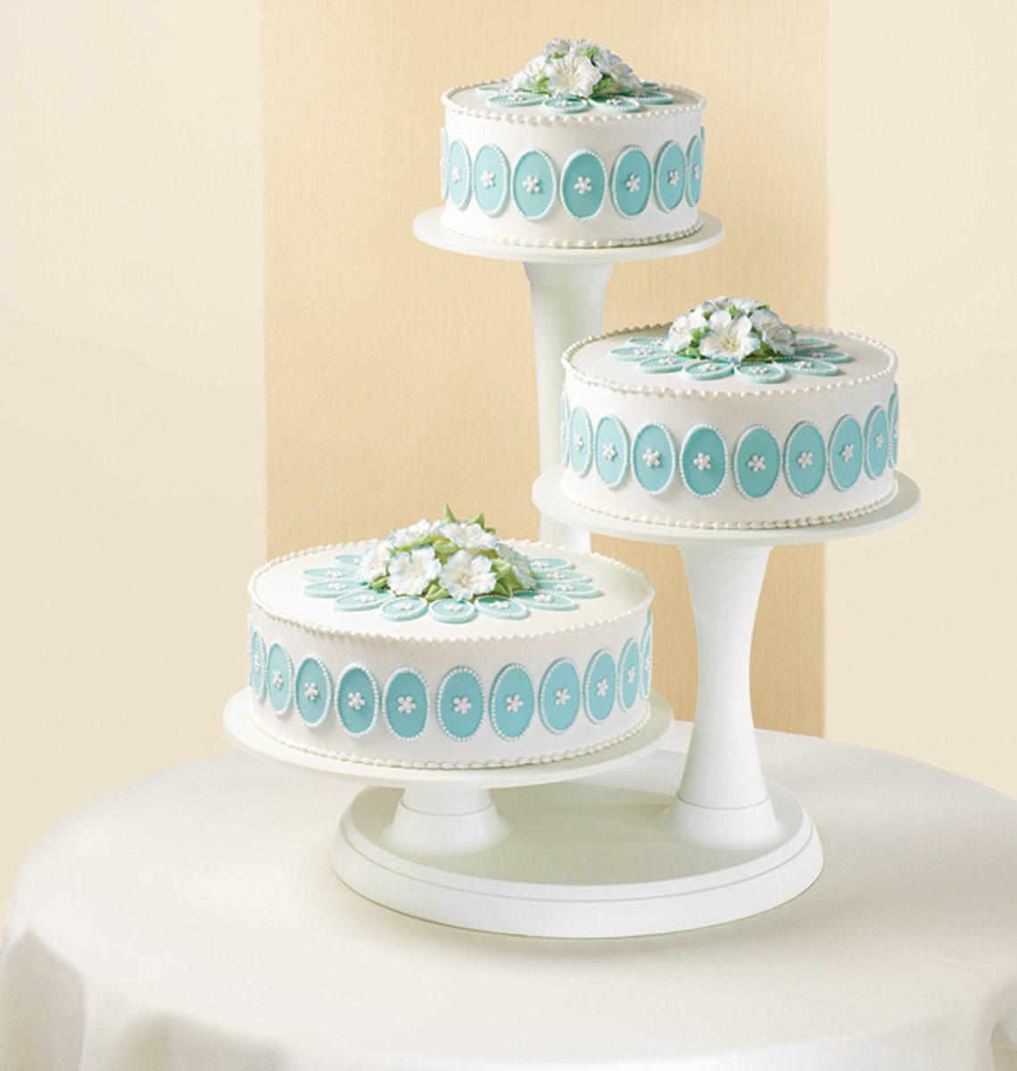Amazon.com | Wilton 307 350 3 Tier Pillar Style Cake And Cupcake Stand:  Decorating Tools: Cake Stands
