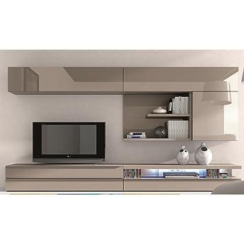 le dernier dfec0 7845f Meuble TV design laqué beige Maya ATYLIA Couleur Beige ...
