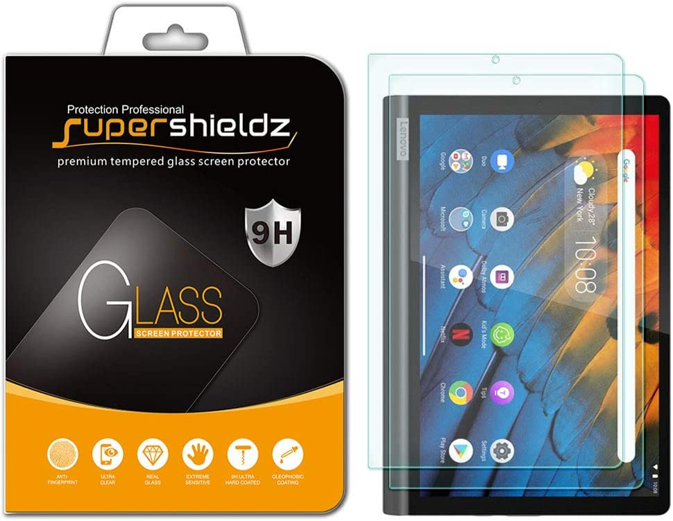(2 Pack) Supershieldz for Lenovo Yoga Smart Tab 10.1 inch Screen Protector, (Tempered Glass) Anti Scratch, Bubble Free