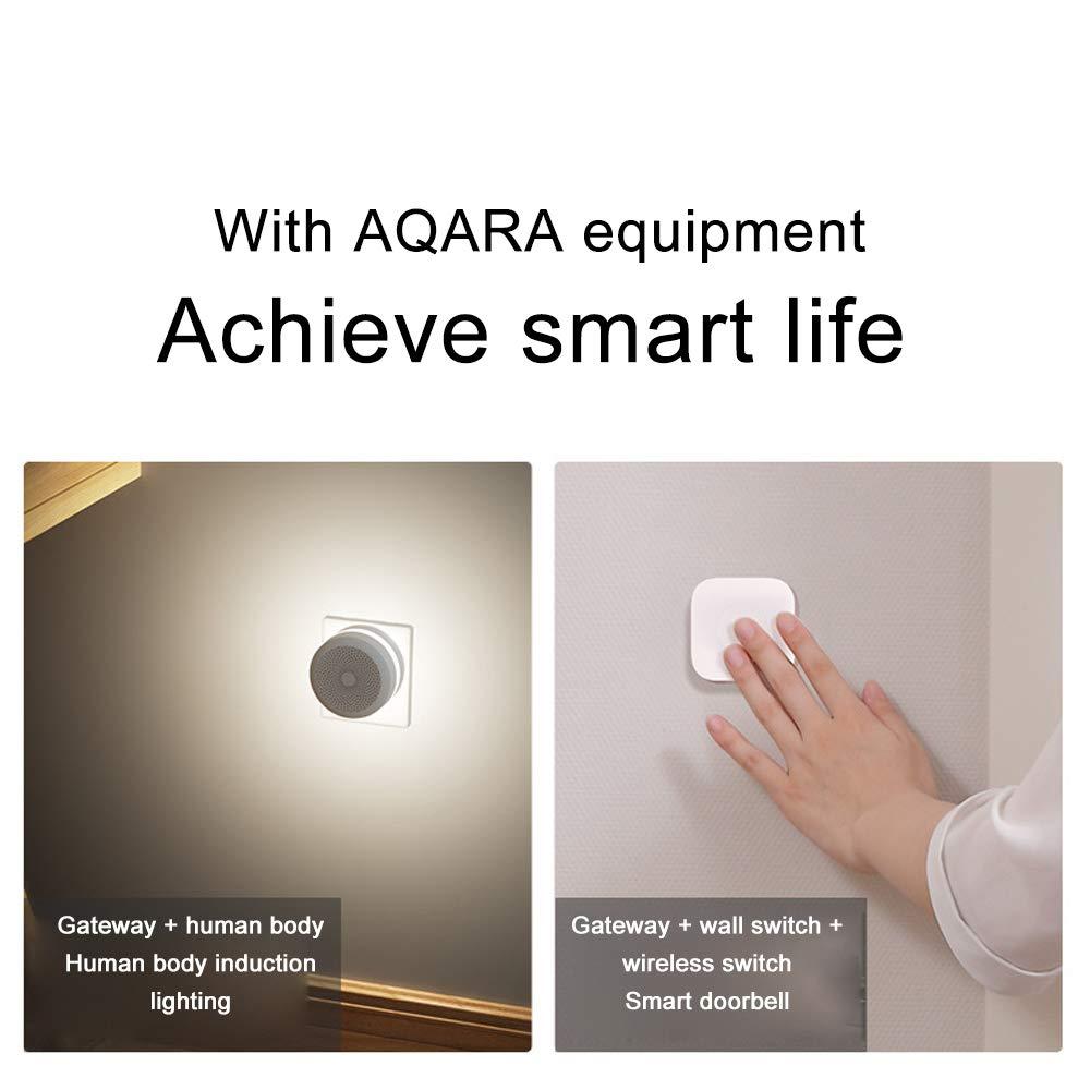 Aqara Hub passerelle avec Nightlight RGB LED Smart Work avec pour Apple Homekit et aqara Smart App Xiaomi Aqara Smart Gateway
