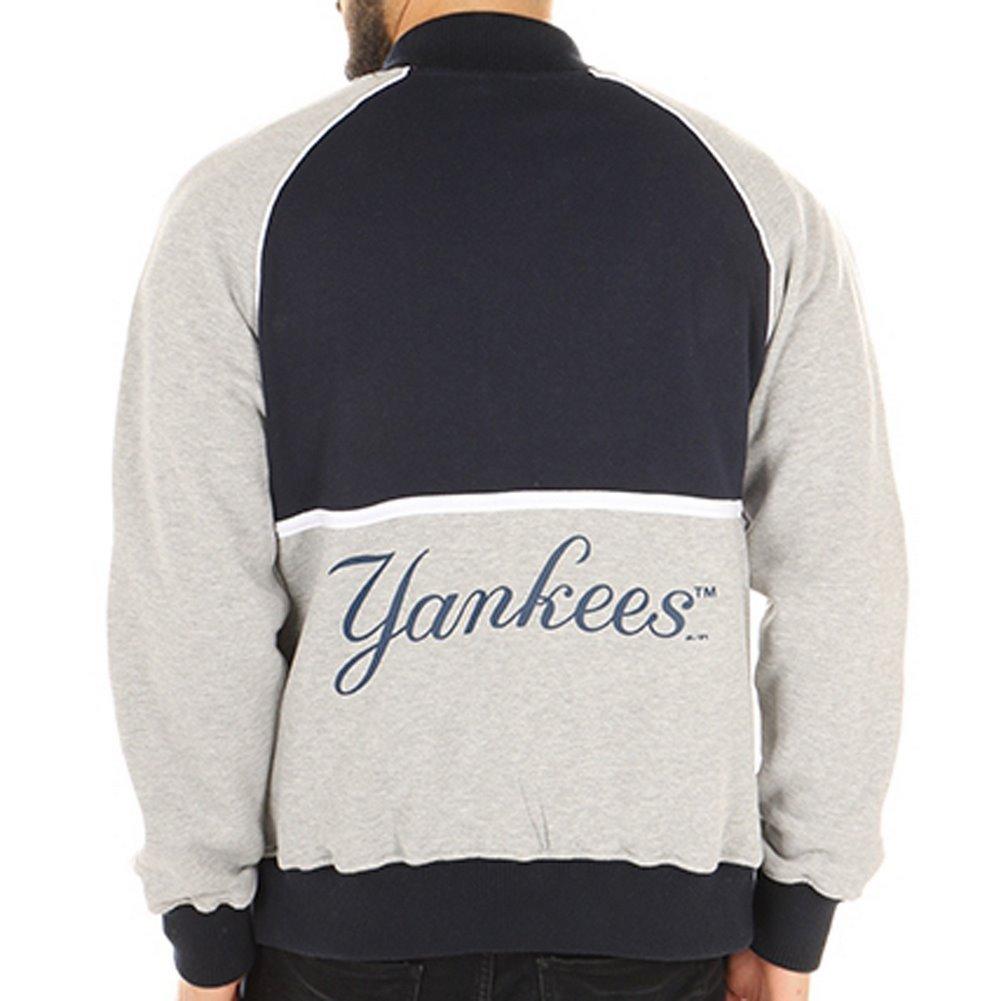 fb48a131aa564 majestic Chaqueta Mlb New York Yankees Fleece Letterman azul gris talla  S  (Small