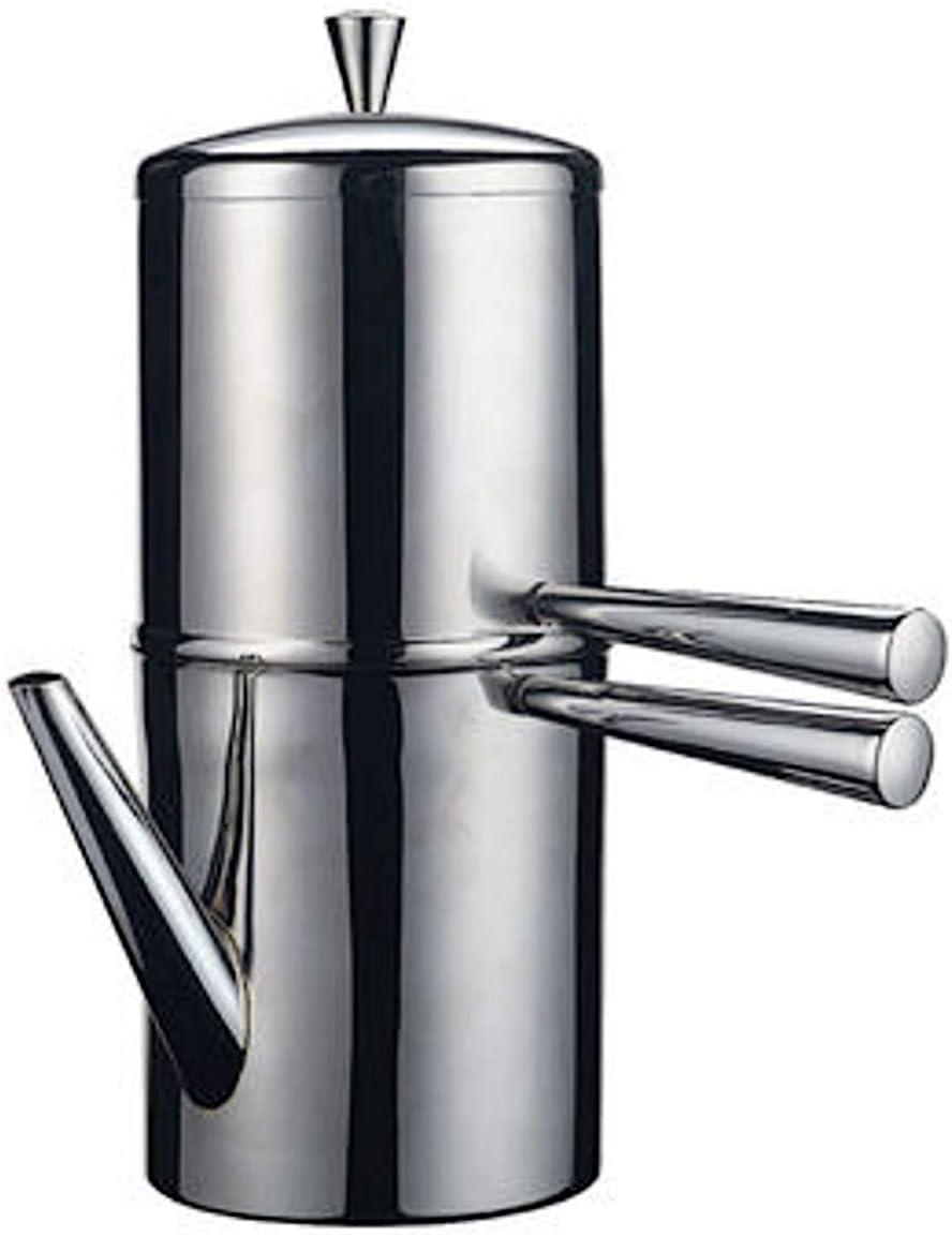Ilsa - Cafetera napolitana de acero inoxidable, 9 tazas: Amazon.es: Hogar