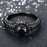 JunXin-10KT-Black-Gold-8MM-Round-Cut-Diamond-Halo-Rings-Black-Onyx-Stone-Size678910