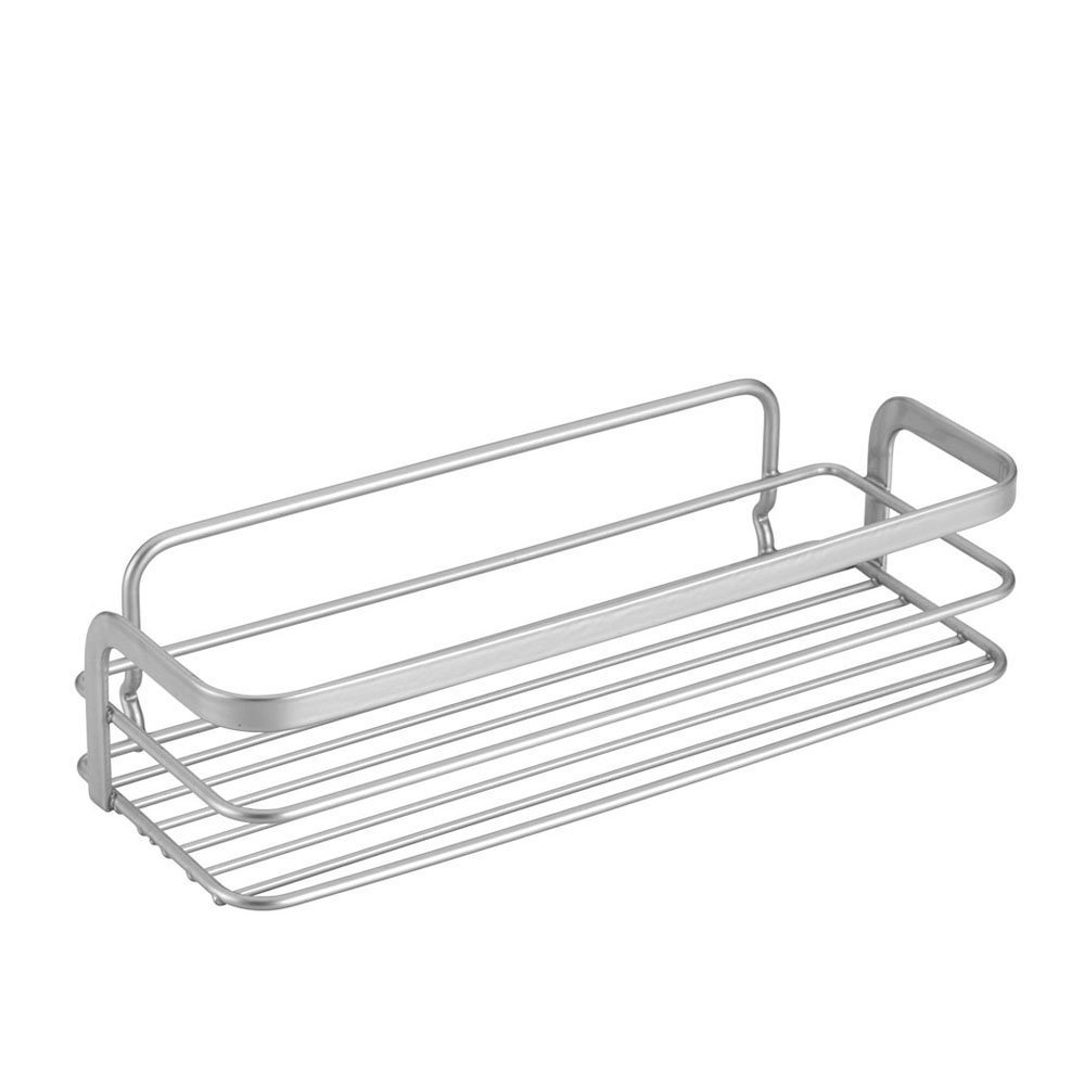 Metaltex USA Inc. 40.48.04 Viva Rectangular Shelf with Safefix, Silver