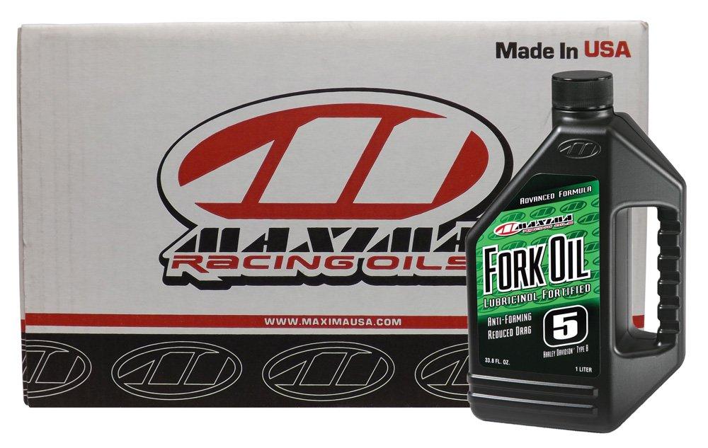 Maxima (CS54901-12PK) 5WT Standard Hydraulic Fork Oil - 1 Liter, (Case of 12) by Maxima