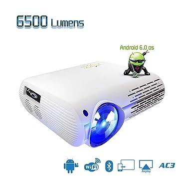 HAJZF Proyector Full HD 1080P De 6500 Lúmenes, Corrección De ...