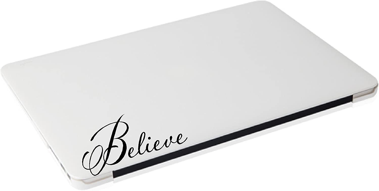 Laptop Sticker - Believe Religious Funny Decal - Matte Black Skins Stickers