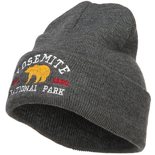 Yosemite National Park Embroidered Long Beanie - Dk Grey OSFM