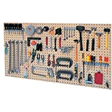 Kennedy Manufacturing 50004UGY 4-Panel Toolboard Set with 60 Piece Toolholder Set, Utility Gray