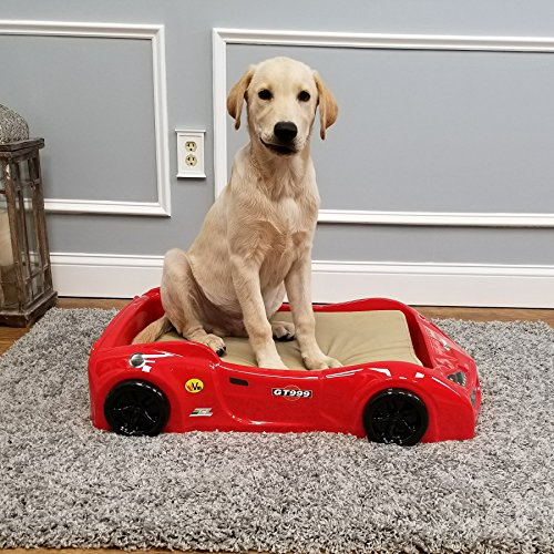 Maxy Home Pet Bed Frame - GT999 Race Car Dog Bed Frame (Red)