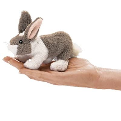 Folkmanis Mini Bunny Rabbit Finger Puppet, Multicolor: Toys & Games