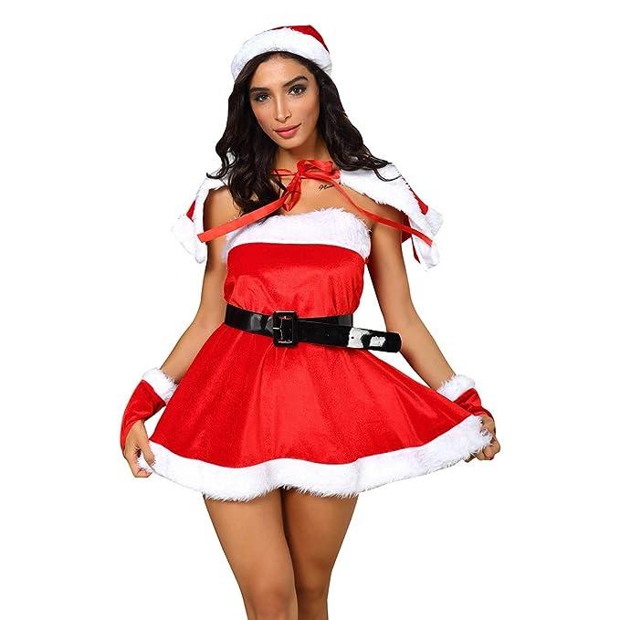 HULKY 5PCS Conjunto de Navidad Mujer, Disfraces Navidad ...