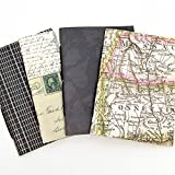 Bullet Journals with Map Covers - Set of 4 - Available in Ten Sizes including B6, Cahier, A5