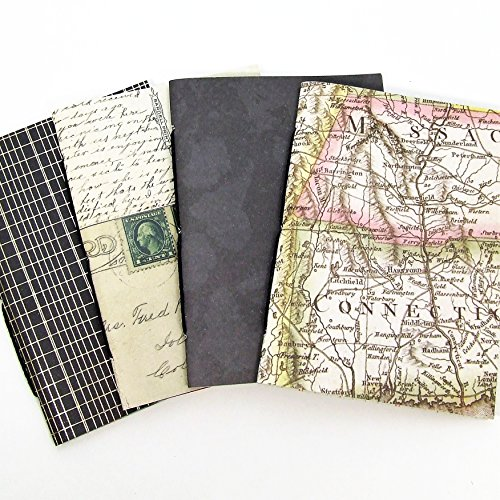 Bullet Journals with Map Covers - Set of 4 - Available in Ten Sizes including B6, Cahier, A5 by StinsonPaperCompany