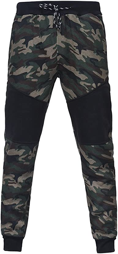 VPASS Pantalones para Hombre, Chándal de Hombres Camuflaje ...