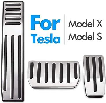 3 Pcs Non-Slip Performance Aluminium Alloy Accelerator Foot Rest Modified Pedal Pads Kit for Tesla Model 3 Brake Replacemen