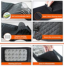 MAIBU Removable Self-heating Magnetic Therapy Support Brace Adjustable Pain Relief Back Waist Support Lumbar Brace Belt XL