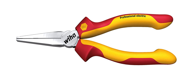 Wiha Langbeck-Flachzange Professional electric (26732) 160 mm Zange fü r Elektriker, VDE geprü ft, stü ckgeprü ft, stabil und robust Z07016006