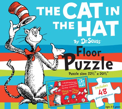 The Cat in the Hat by Dr. Seuss Floor Puzzle: Includes 48 giant puzzle pieces, Puzzle size: 32-1/2 (Dr. Seuss Giant Puzzle Boxes)