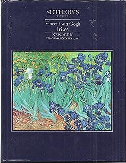 sothebys vincent van gogh irises new york wednesday november 11 1987