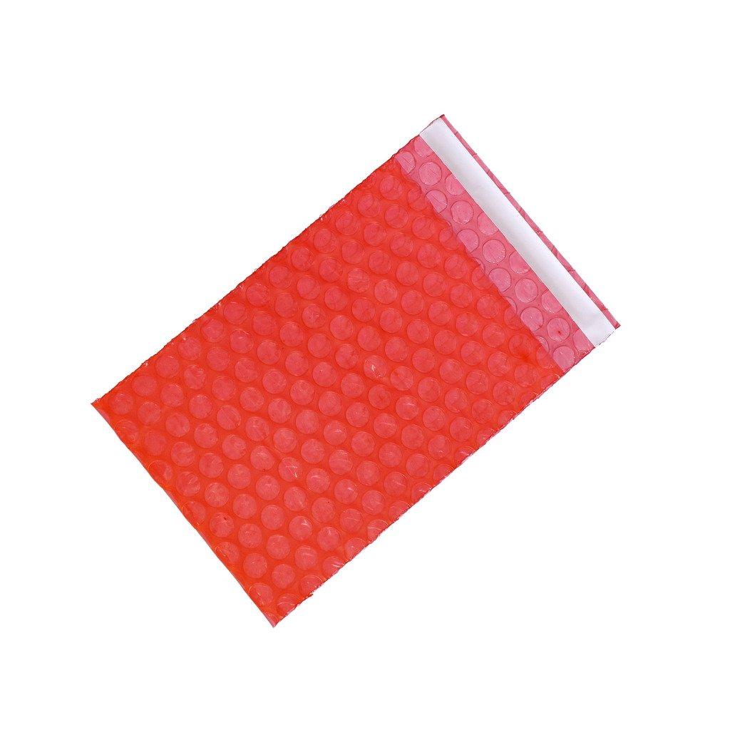 Generic Red Self Seal Anti Static Bubble Bag Width 2.5 - 6.7 x Length 3 - 8.7 Multi Sizes 4 x 6+1 - 100 PCS XSY