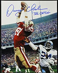 "49ERS DWIGHT CLARK ""THE CATCH"" SIGNED AUTHENTIC 11X14 PHOTO CERTIFICATE OF AUTHENTICITY JSA #G16177"