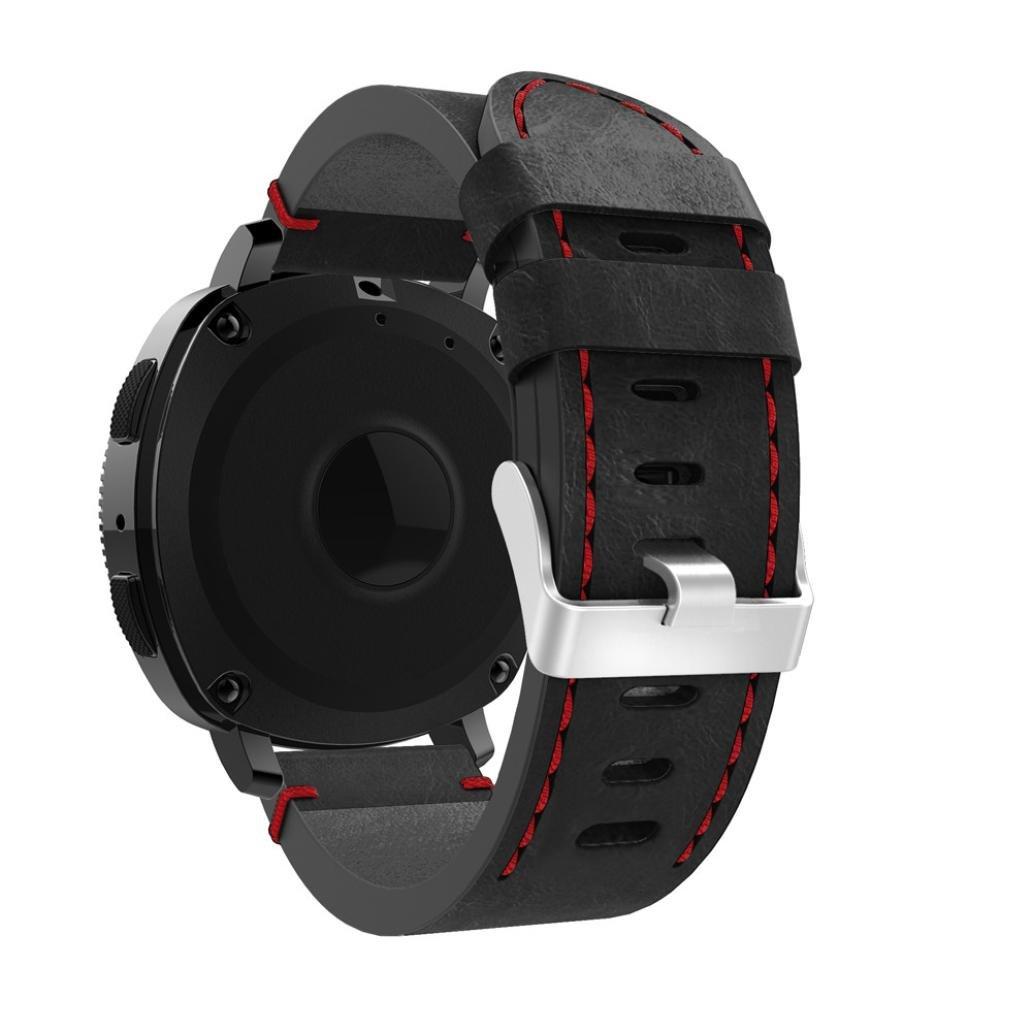 AloneA高級レザー交換用アクセサリーリストバンドストラップfor Samsung Gearスポーツ  D B077P8FMN2