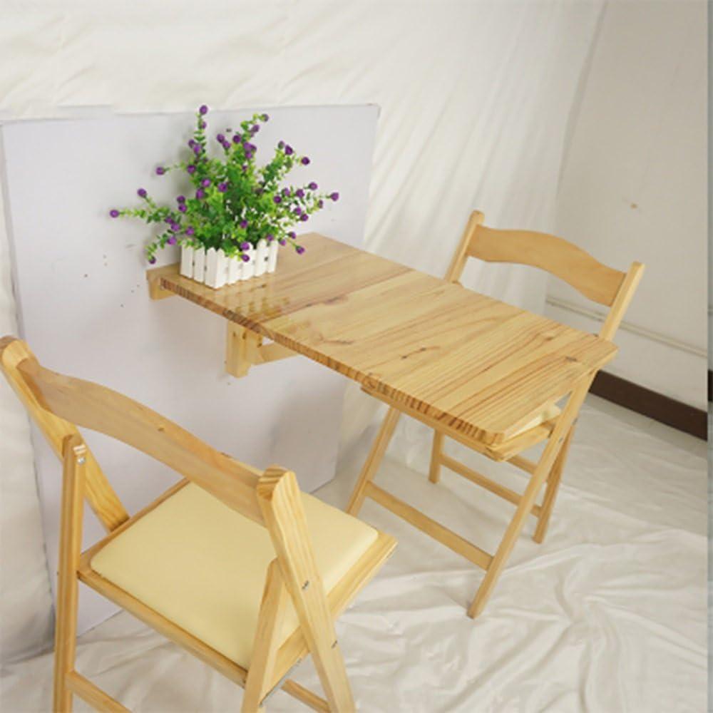 Couleur : Burlywood Table murale en bois Table suspendue murale Cuisine pliante Table /à manger Ordinateur Bureau