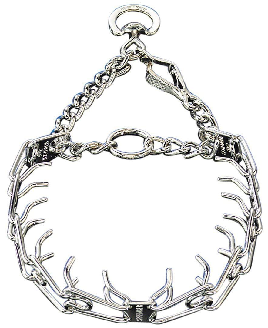 Herm Sprenger Pet Supply Imports Chrome Plated Training Collar with Quick Release Snap for Dogs, Small, 2.25mm, 16-Inch