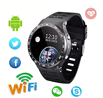 Amazon.com : 3G Smart Watch Cell Phone, Bluetooth Wristwatch ...