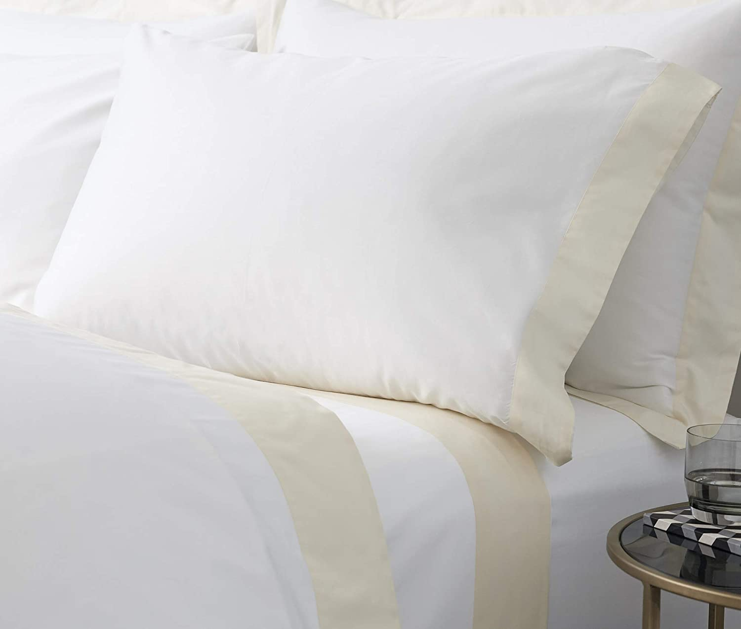 Bedify Collection American Size Set of 2pcs Pillow Case 400 Thread Count Standard 20x26 Inch Size Export Quality White Solid Egyptian Cotton